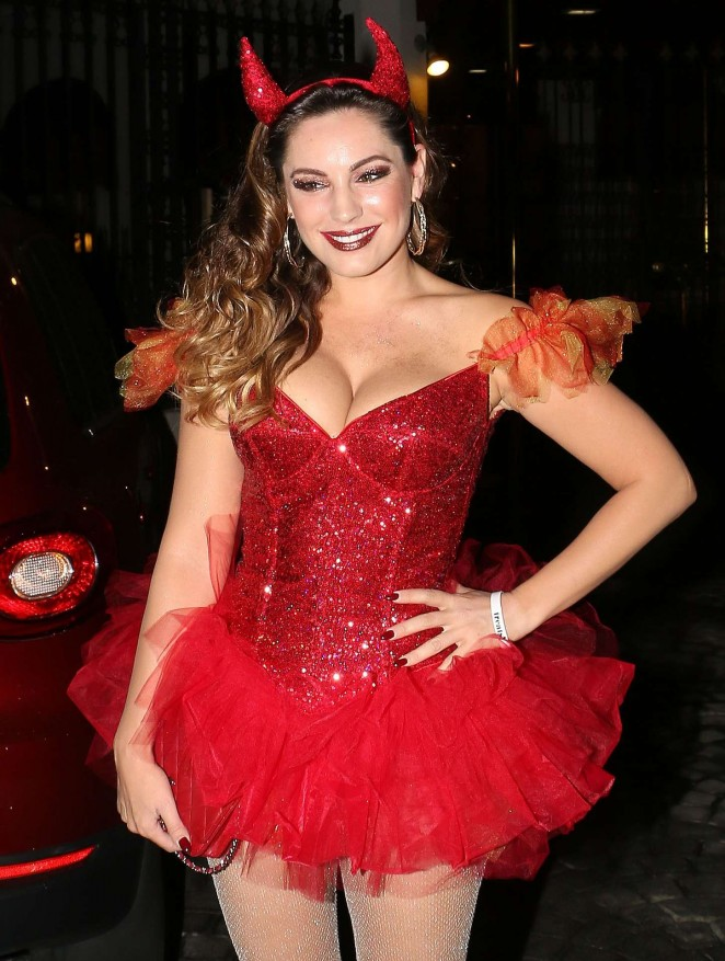 Kelly Brook - Dressed as a Devil for Halloween in Hollywood