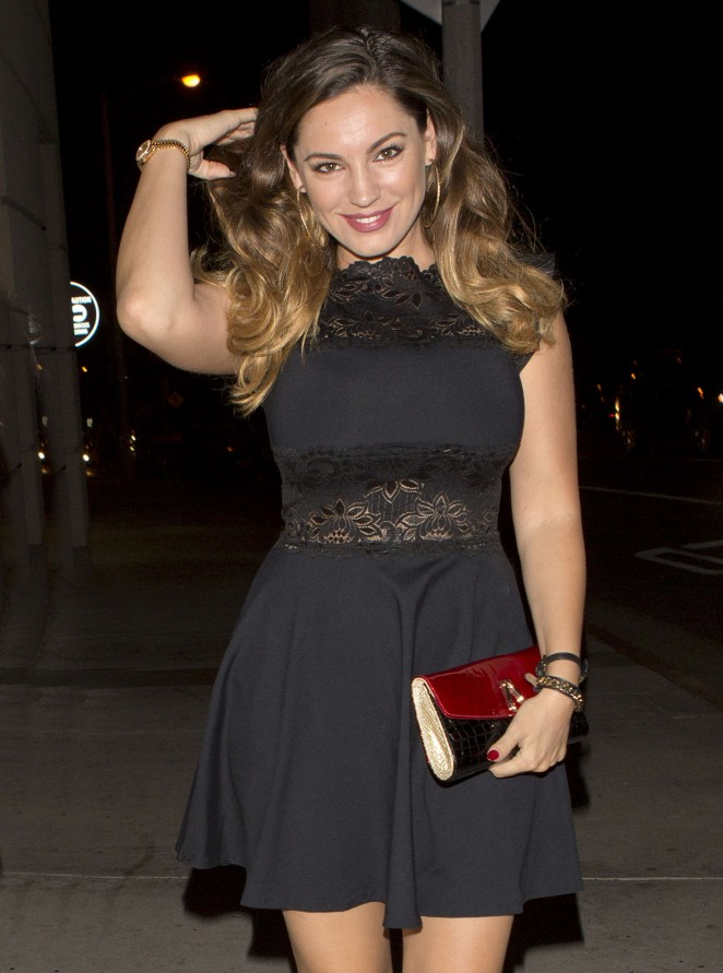 Kelly Brook in Mini Dress Night Out in LA