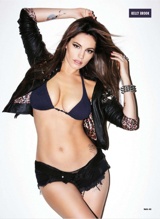Kelly Brook hot for Nuts October 2012