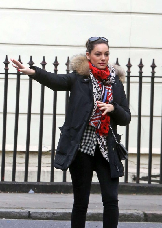 Kelly Brook leaves her house to run some errands London