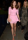 Kelly Brook shows her legs in short dress out in London