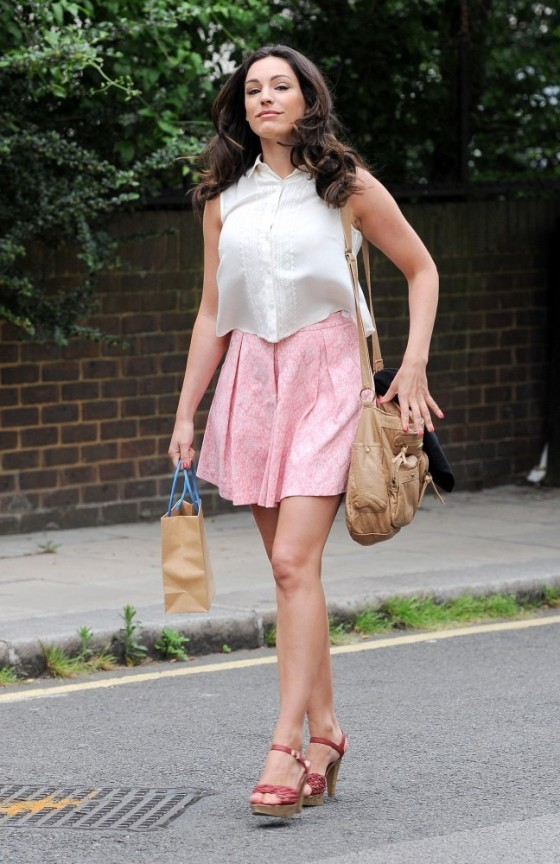 Kelly Brook on the set of 'Taking Stock' in London