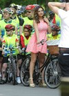 Kelly Brook - Rading a Bike - Mark Cavendish Sky Ride in Regents Park