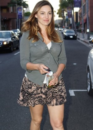 Kelly Brook in Mini Skirt -04