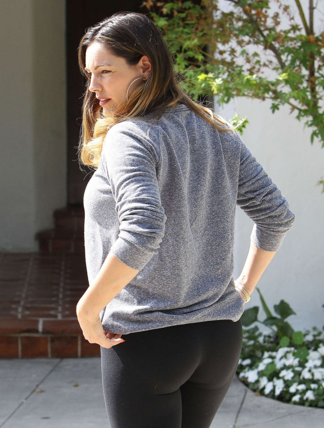 Kelly Brook in Black Spandex out in LA