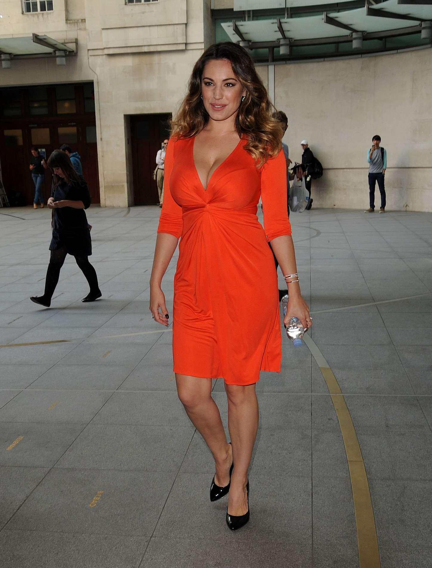 Kelly Brook 2014 : Kelly Brook in Red Dress -03