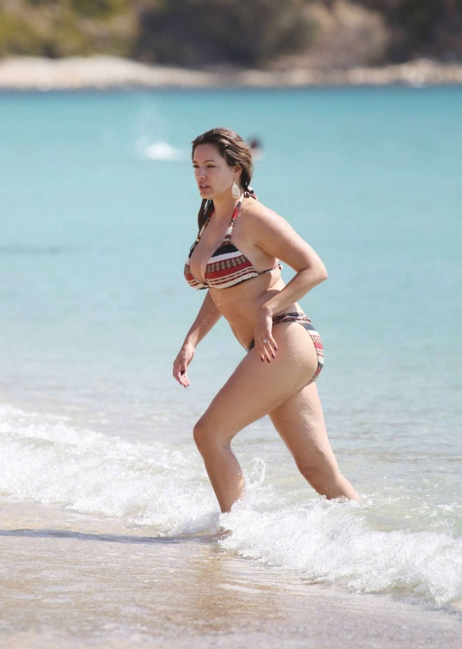 Kelly Brook - Wearing Bikini in Greece