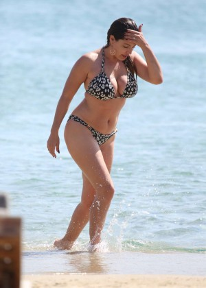 Kelly Brook in Bikini on a Beach in Greece