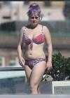 Kelly Osbourne - Red Floral Bikini Candids -02