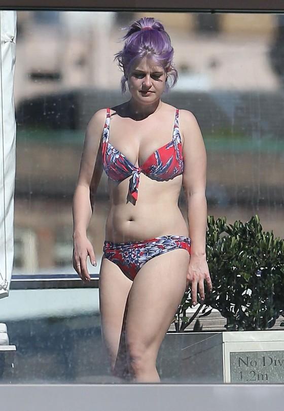 Kelly Osbourne - Red Floral Bikini Candids -03