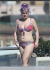 Kelly Osbourne - Red Floral Bikini Candids -44