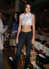 Kendall Jenner in tight jeans at Abbey Dawn Fashion Dhow in New York