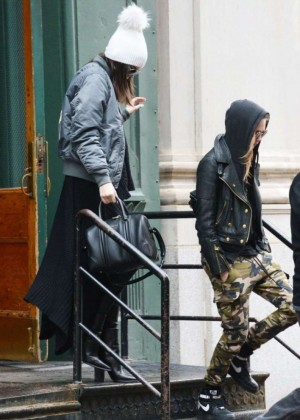 Kendall Jenner and Cara Delevingne Leaves Apartment in New York