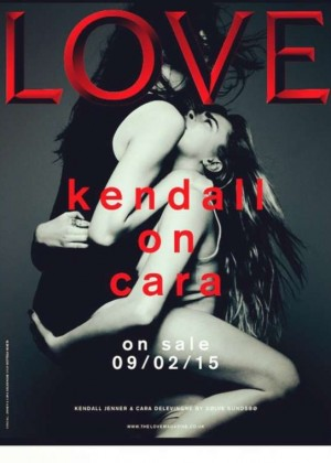 Kendall Jenner and Cara Delevingne - Love Magazine Cover (February 2015)