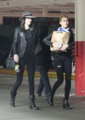 Kendall Jenner and Hailey Baldwin Head To Dinner in LA