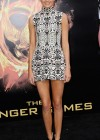Kendall Jenner legs in short tight dress at The Hunger Games-02