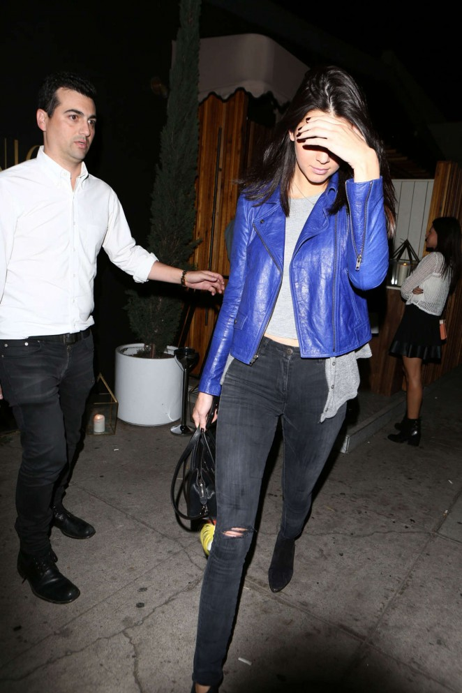 Kendall Jenner at The Nice Guy Restaurant in West Hollywood