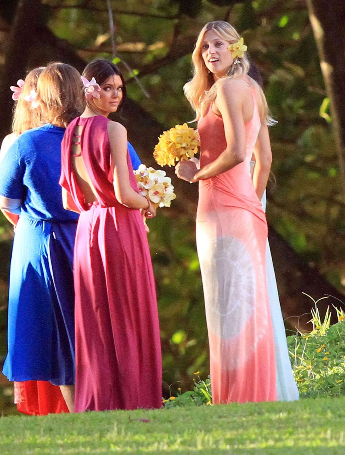 Kendall Jenner Photos in dress at Wedding-04