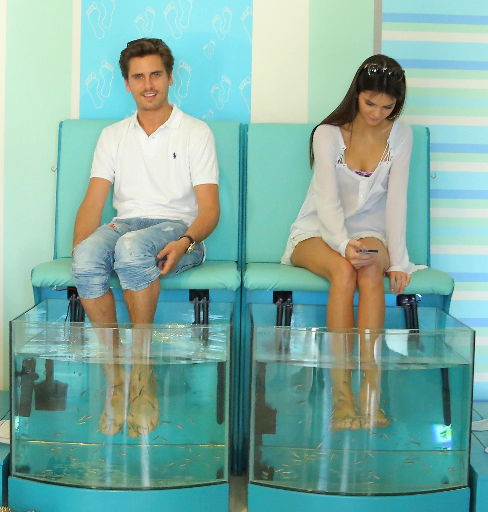 Kendall jenner in a bikini in mykonos greece 12 gotceleb for Fish pedicure nyc