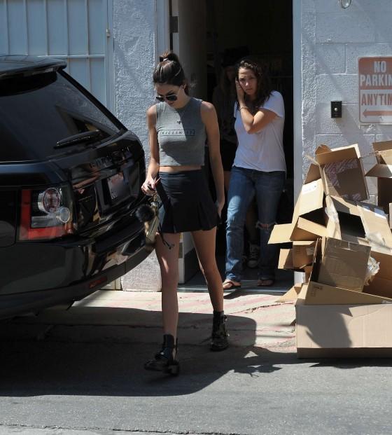 Kendall Jenner Short Dress: Kendall Jenner In Short Skirt -32