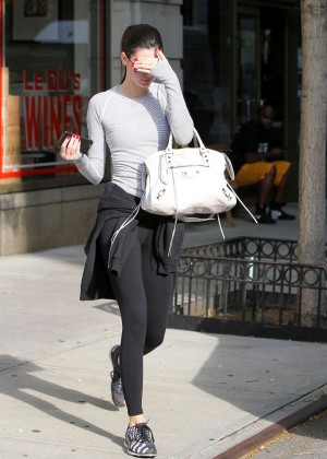 Kendall Jenner in Spandex out in NYC