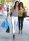 Kendall Jenner in tight white jeans-07