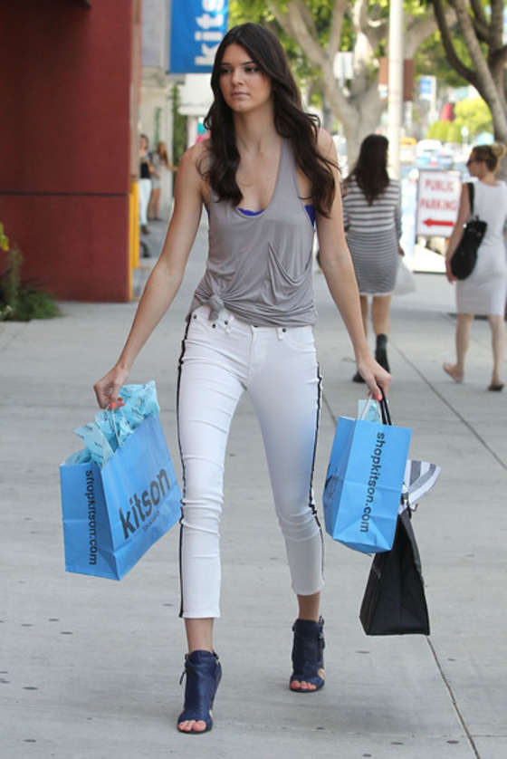 Kendall Jenner 2012 : Kendall Jenner in tight white jeans-08