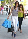 Kendall Jenner in tight white jeans in West Hollywood