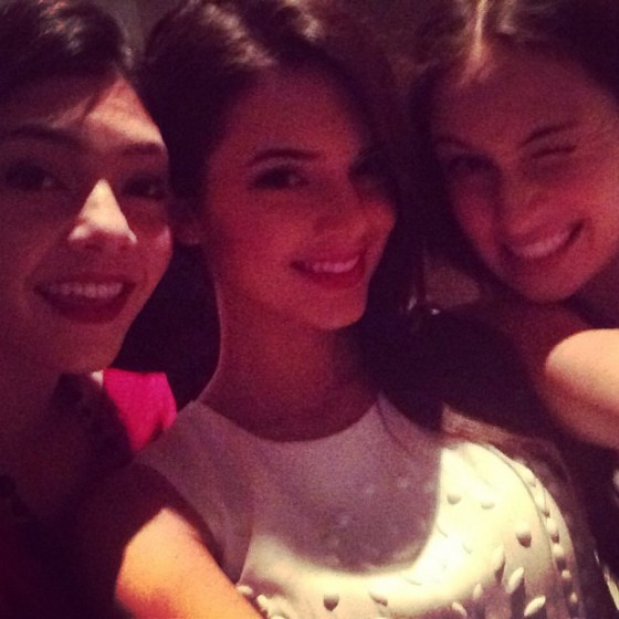 Kendall Jenner In White Dress With Ftriends at a Christmas Eve Party 2012