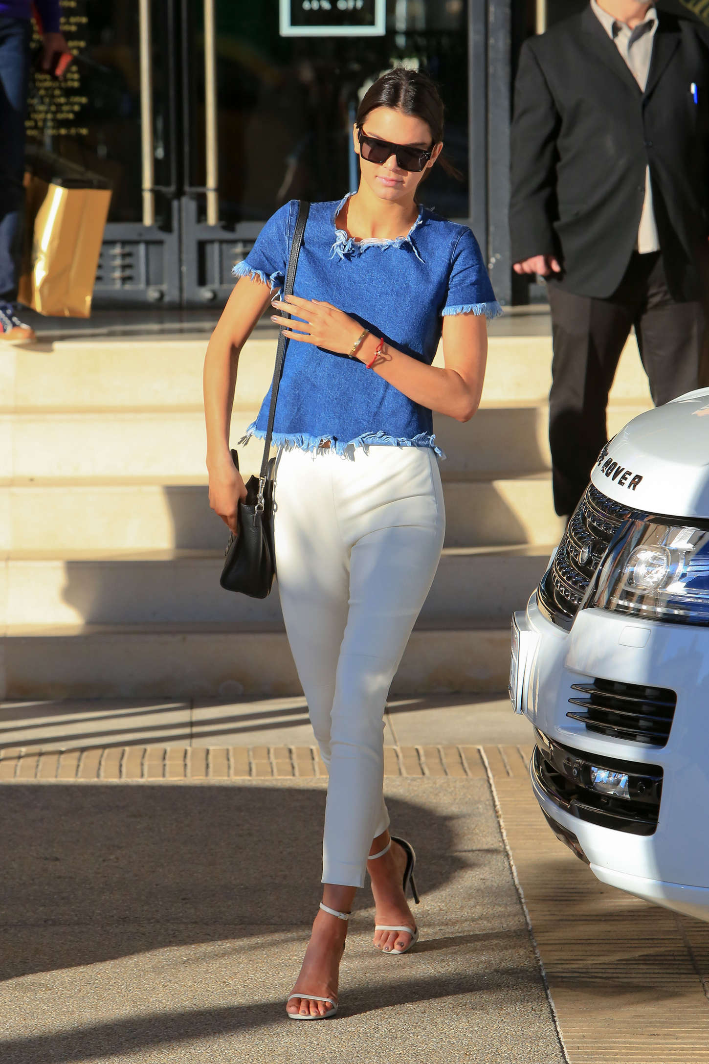 Kendall Jenner in Tight White Pants -30 - GotCeleb
