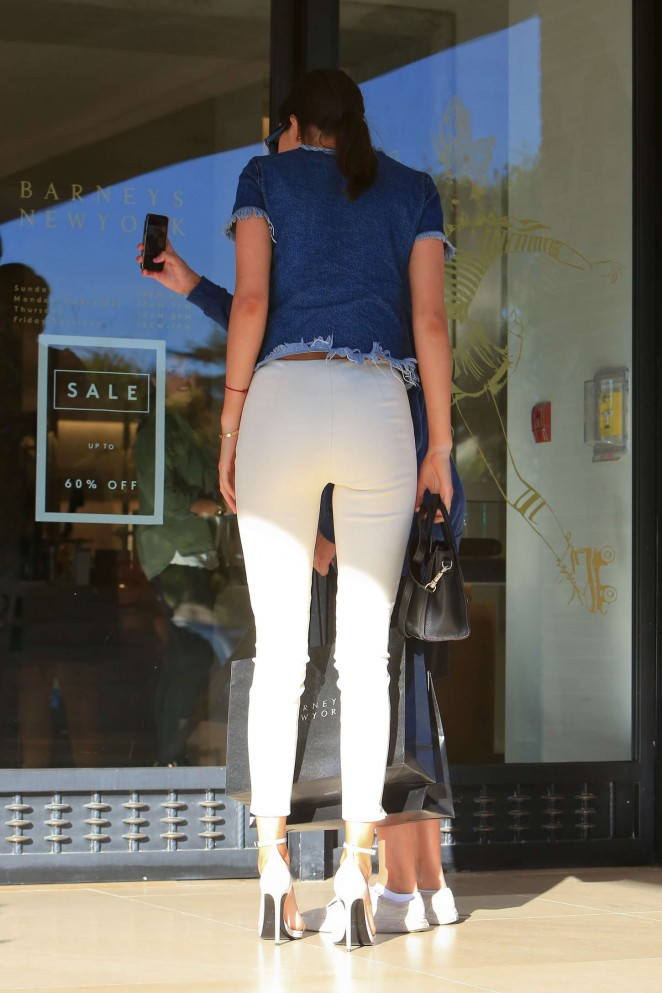 Kendall Jenner in Tight White Pants -23 - GotCeleb