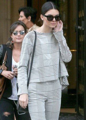 Kendall Jenner - Leaving her hotel in Paris