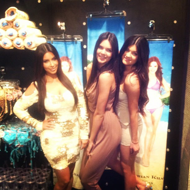 Kendall Jenner 2012 : Kim Kardashian and Kendall Jenner in Vegas for Robs Birtday-09