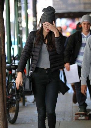 Kendall Jenner in Tight Jeans out in NYC