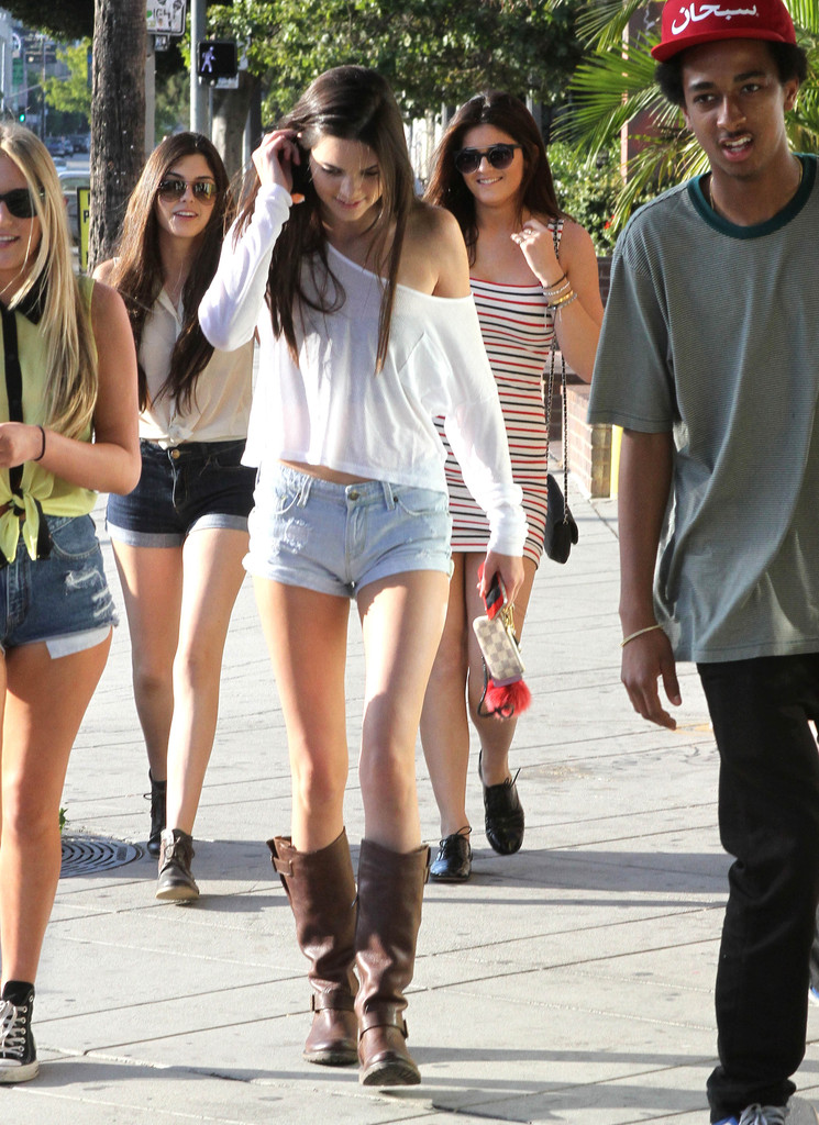 Kendall Jenner 2012 : Kendall Jenner – Out with Friends in Hollywood-25