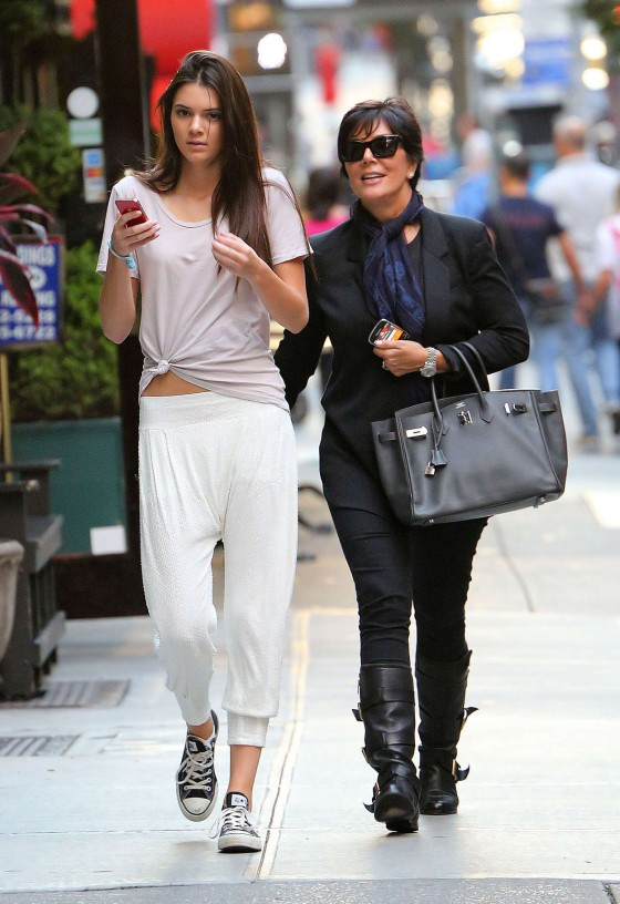 Kendall Jenner - Out With Her Mom in NYC
