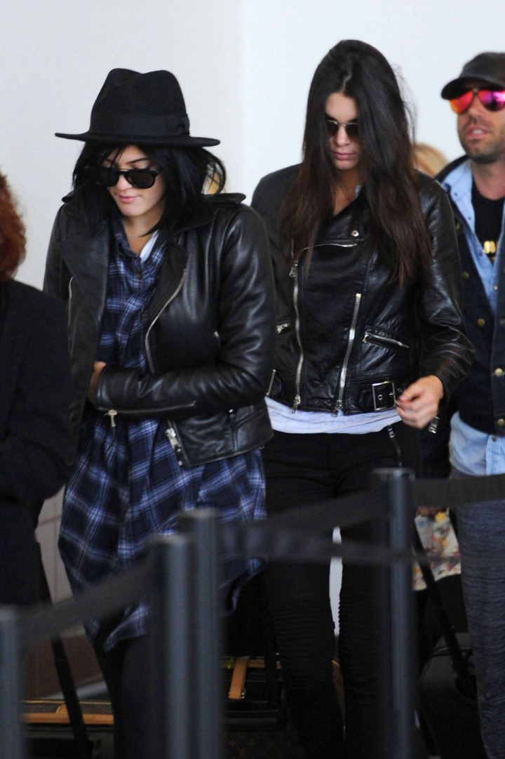 Kendall & Kylie Jenner at LAX Airport