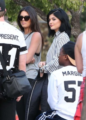 Kendall and Kylie Jenner - KickN It For Charity Celebrity Kick Ball Game -02