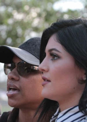 Kendall and Kylie Jenner - KickN It For Charity Celebrity Kick Ball Game -04