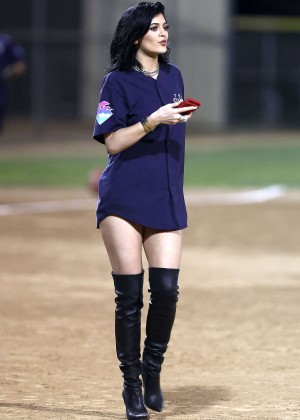 Kendall and Kylie Jenner - KickN It For Charity Celebrity Kick Ball Game -05