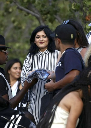 Kendall and Kylie Jenner - KickN It For Charity Celebrity Kick Ball Game -07