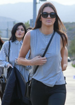 Kendall and Kylie Jenner - KickN It For Charity Celebrity Kick Ball Game -08