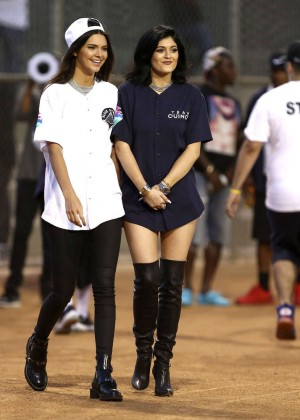 Kendall and Kylie Jenner - KickN It For Charity Celebrity Kick Ball Game -10
