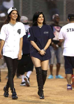 Kendall and Kylie Jenner - KickN It For Charity Celebrity Kick Ball Game -11
