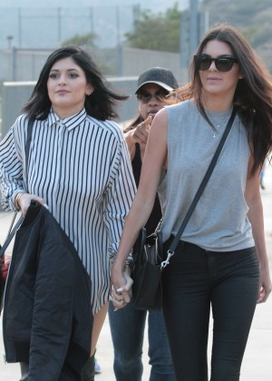 Kendall and Kylie Jenner - KickN It For Charity Celebrity Kick Ball Game -15