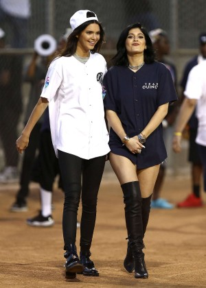 Kendall and Kylie Jenner - KickN It For Charity Celebrity Kick Ball Game -16