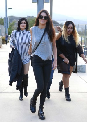 Kendall and Kylie Jenner - KickN It For Charity Celebrity Kick Ball Game -17