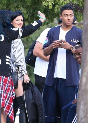 Kendall and Kylie Jenner - KickN It For Charity Celebrity Kick Ball Game -19