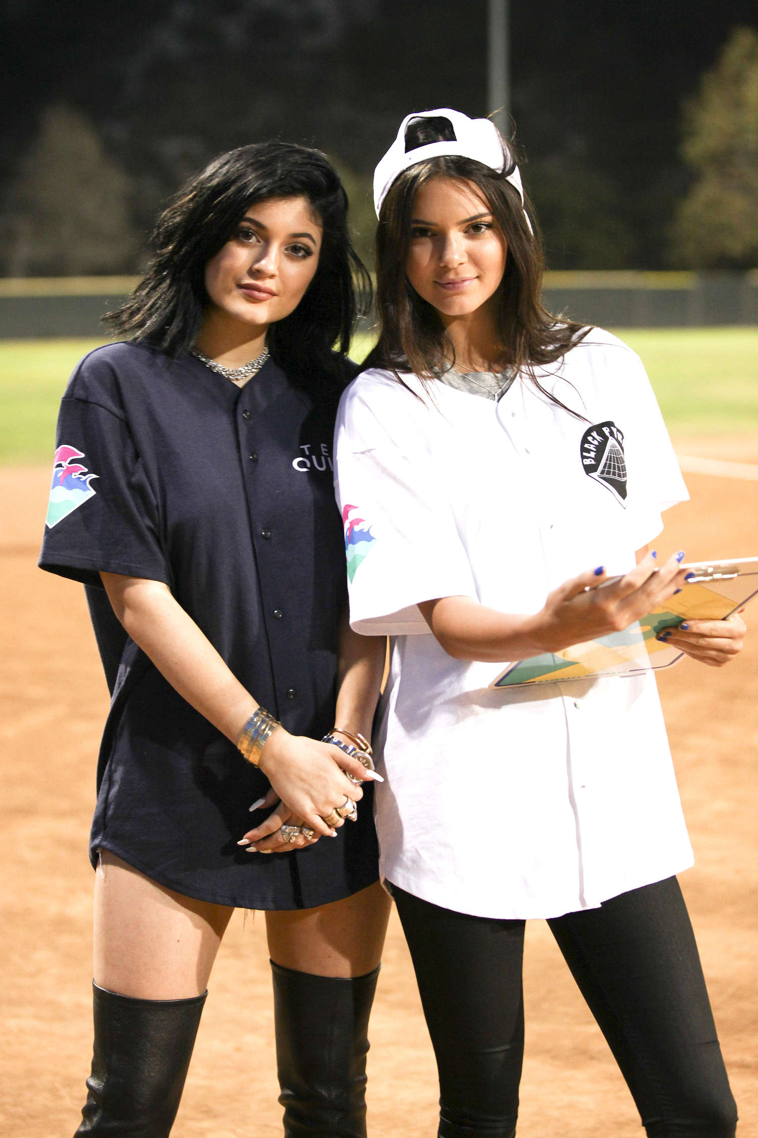 Kendall & Kylie Jenner - Kick'N It For Charity Celebrity Kick Ball Game in Glendale