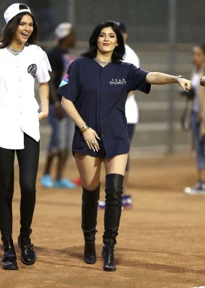 Kendall and Kylie Jenner - KickN It For Charity Celebrity Kick Ball Game -23